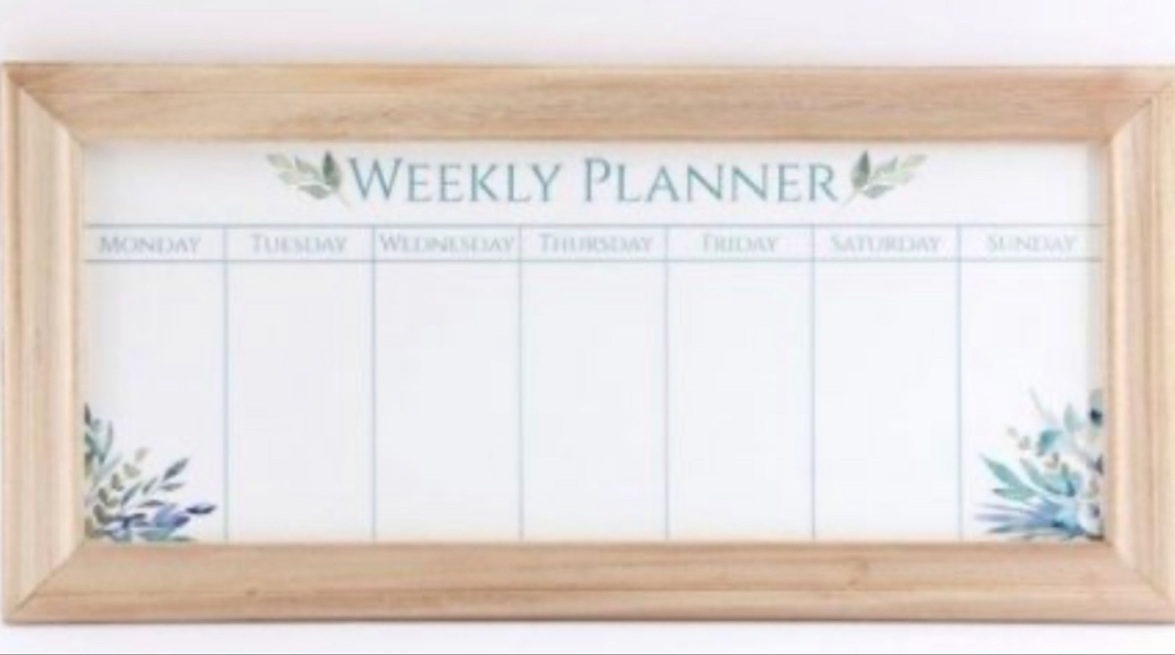 Olive Grove Weekly Planner Whiteboard 67cm