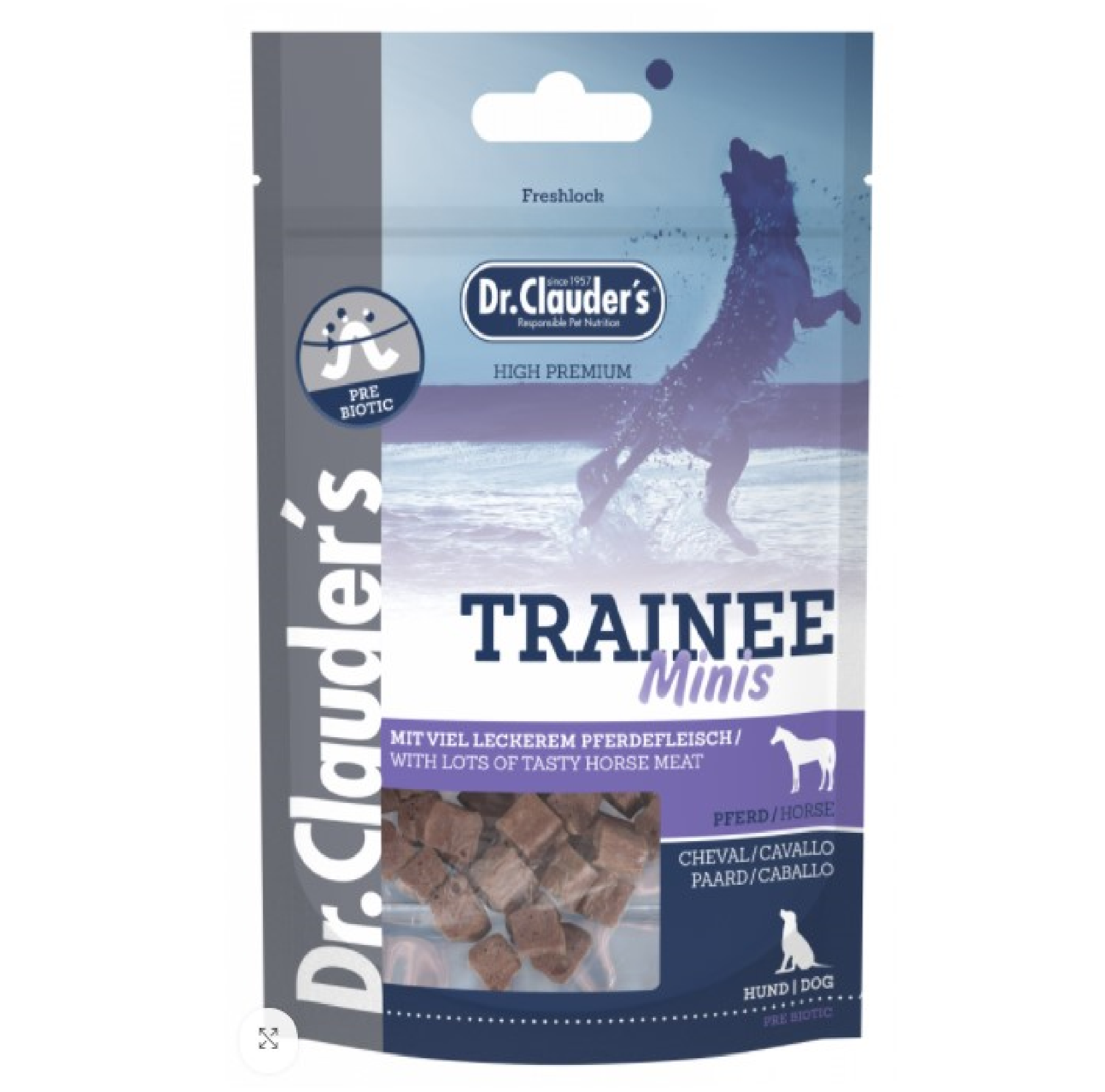 Dr Clauders Trainee Snack Mini Häst 50g