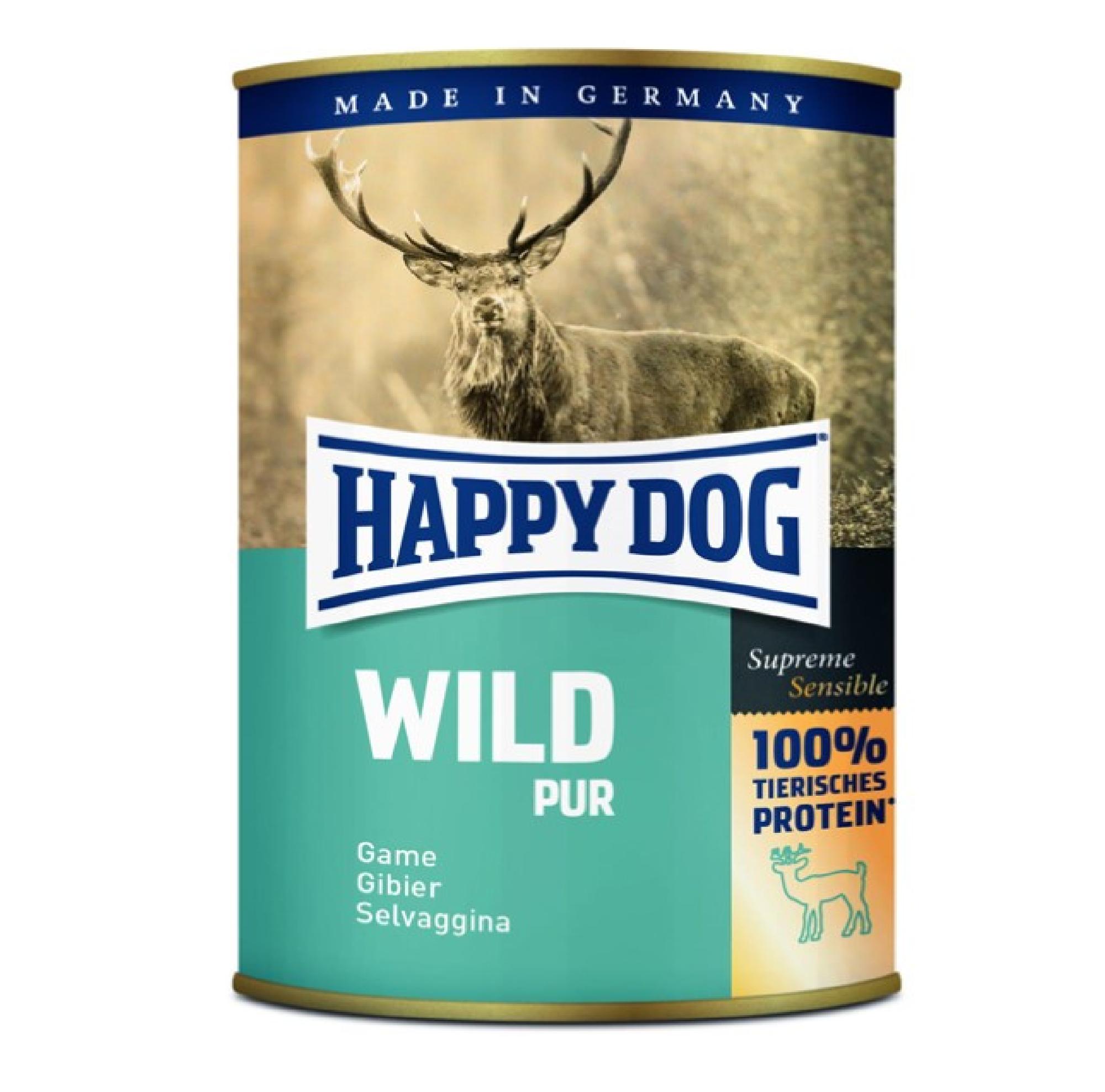 Happy Dog Wild Can 400gr KORT DATUM