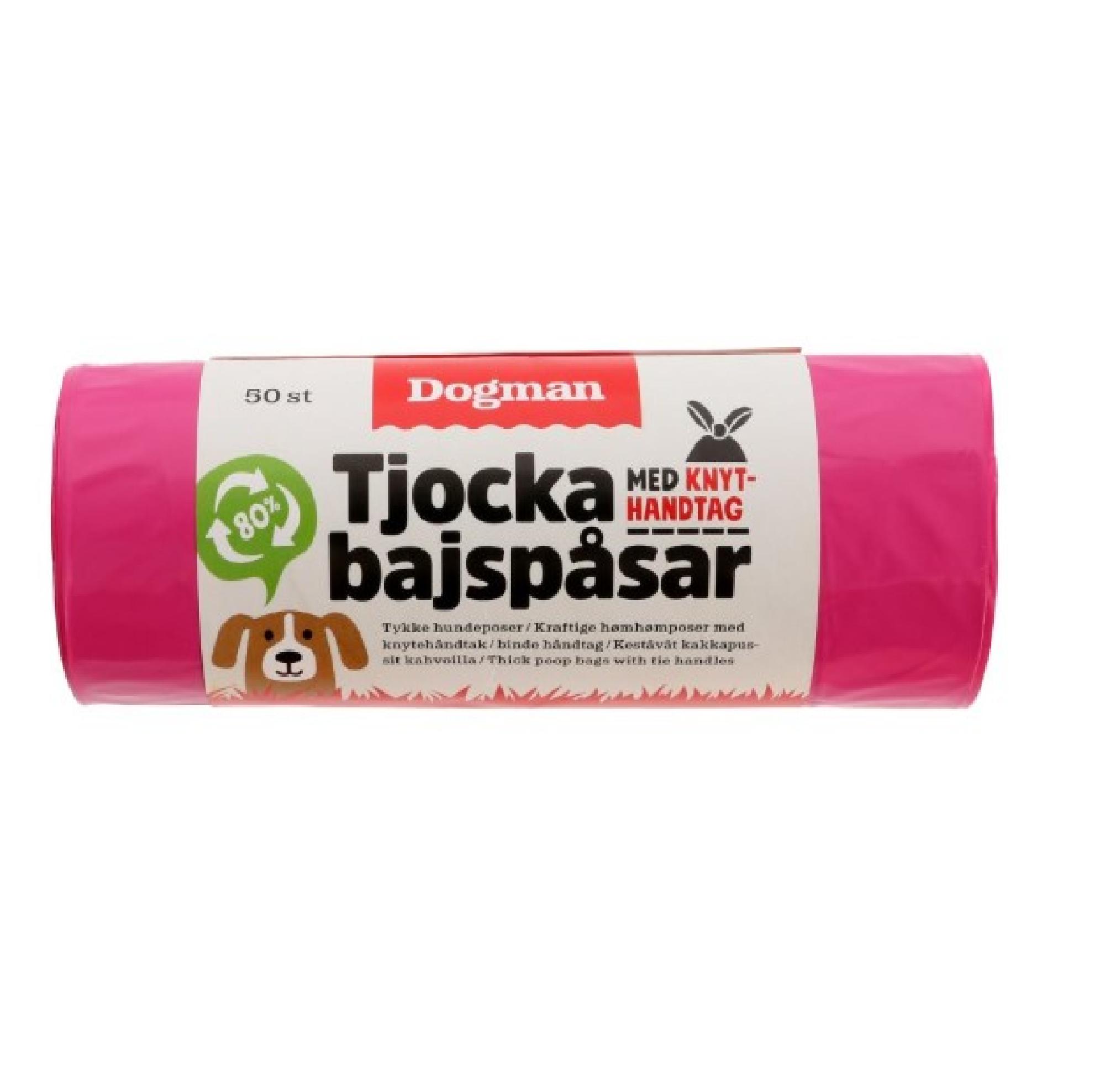Bajspåse med knythandtag 50p - rosa