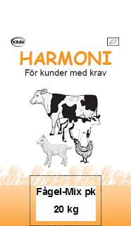 Harmoni Fågel-Mix Pelletskross 20 kg