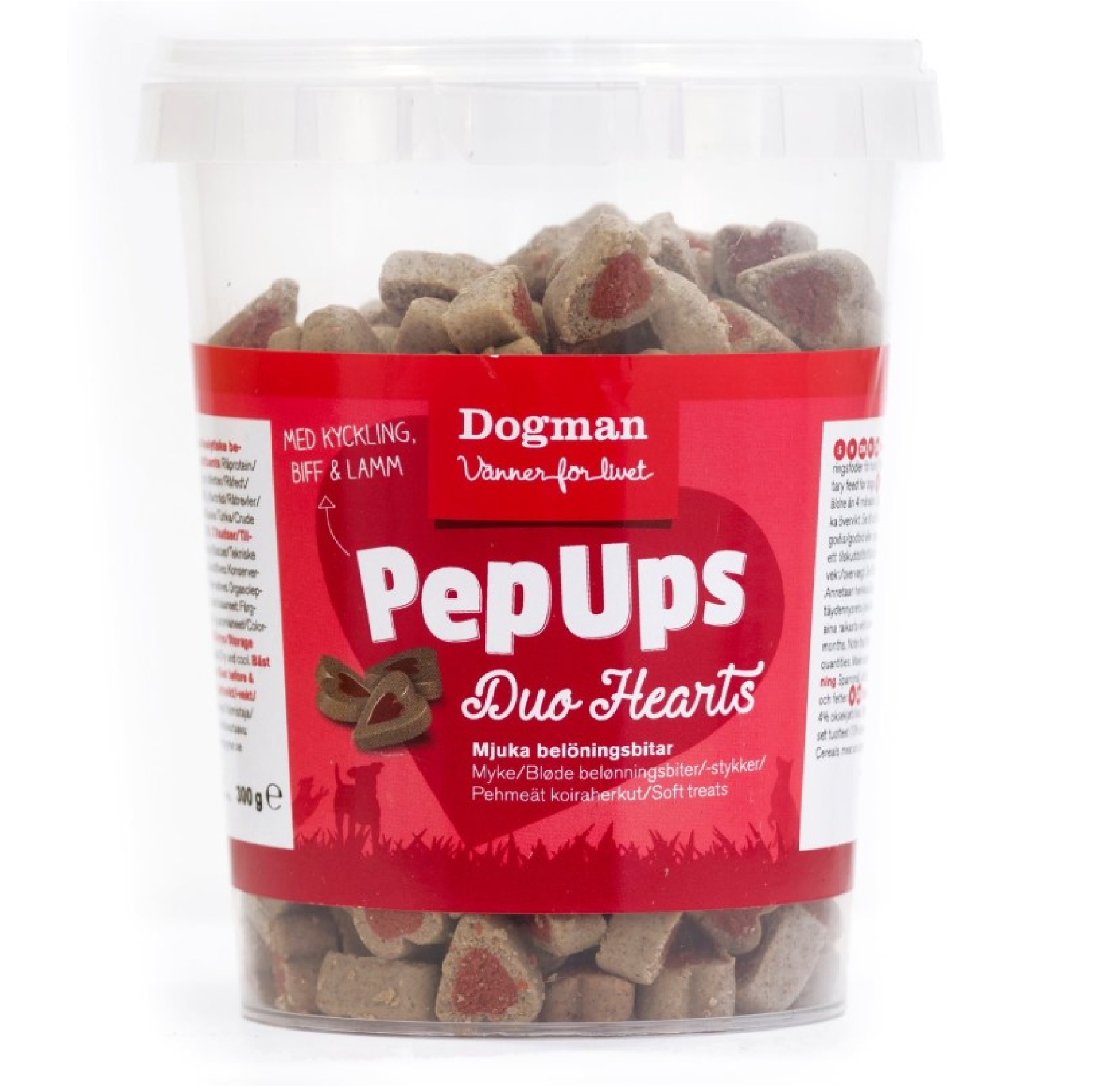 Dogman Pep Ups Duo Hearts 3-smak