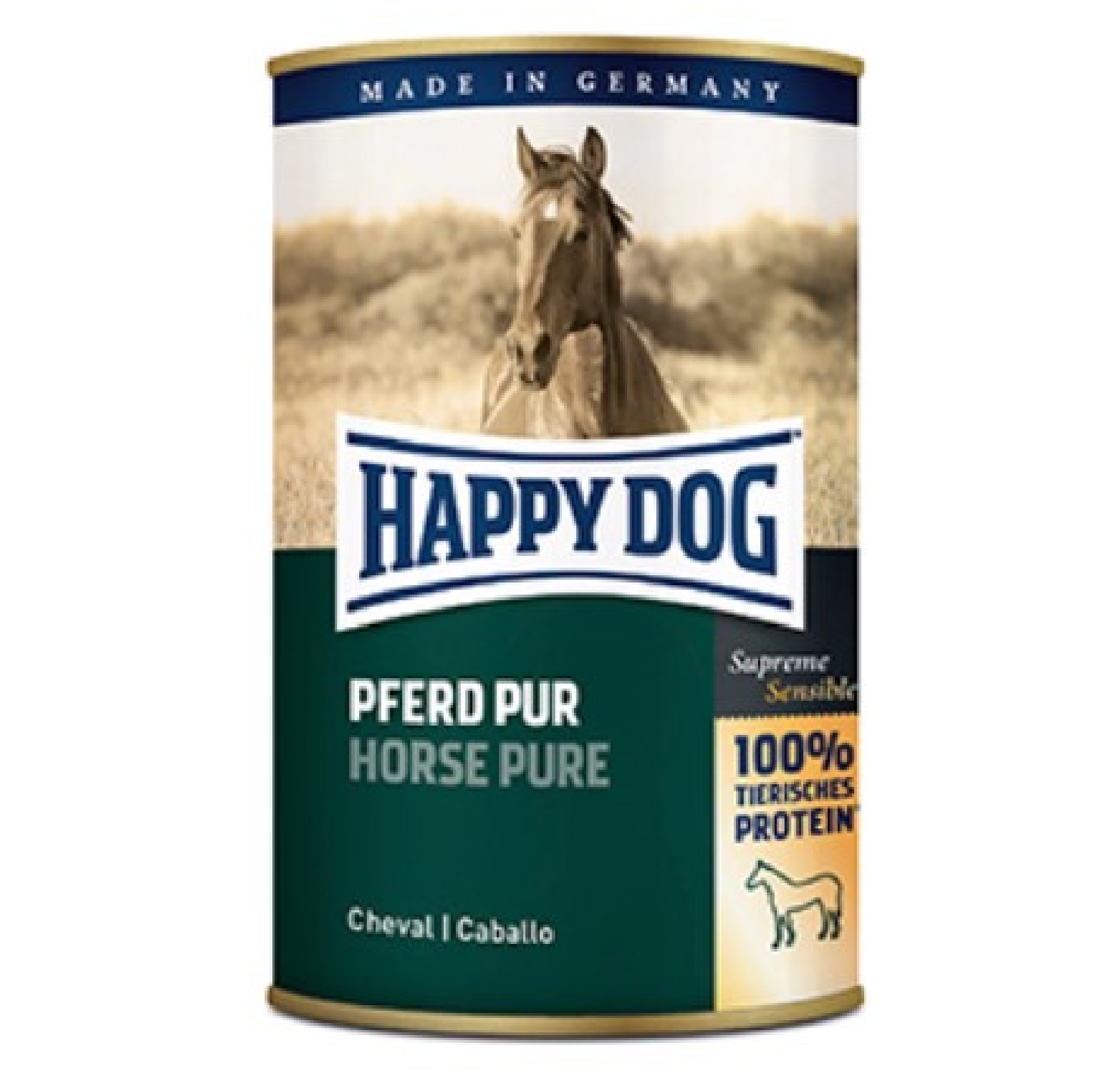 Happy Dog Horse Can