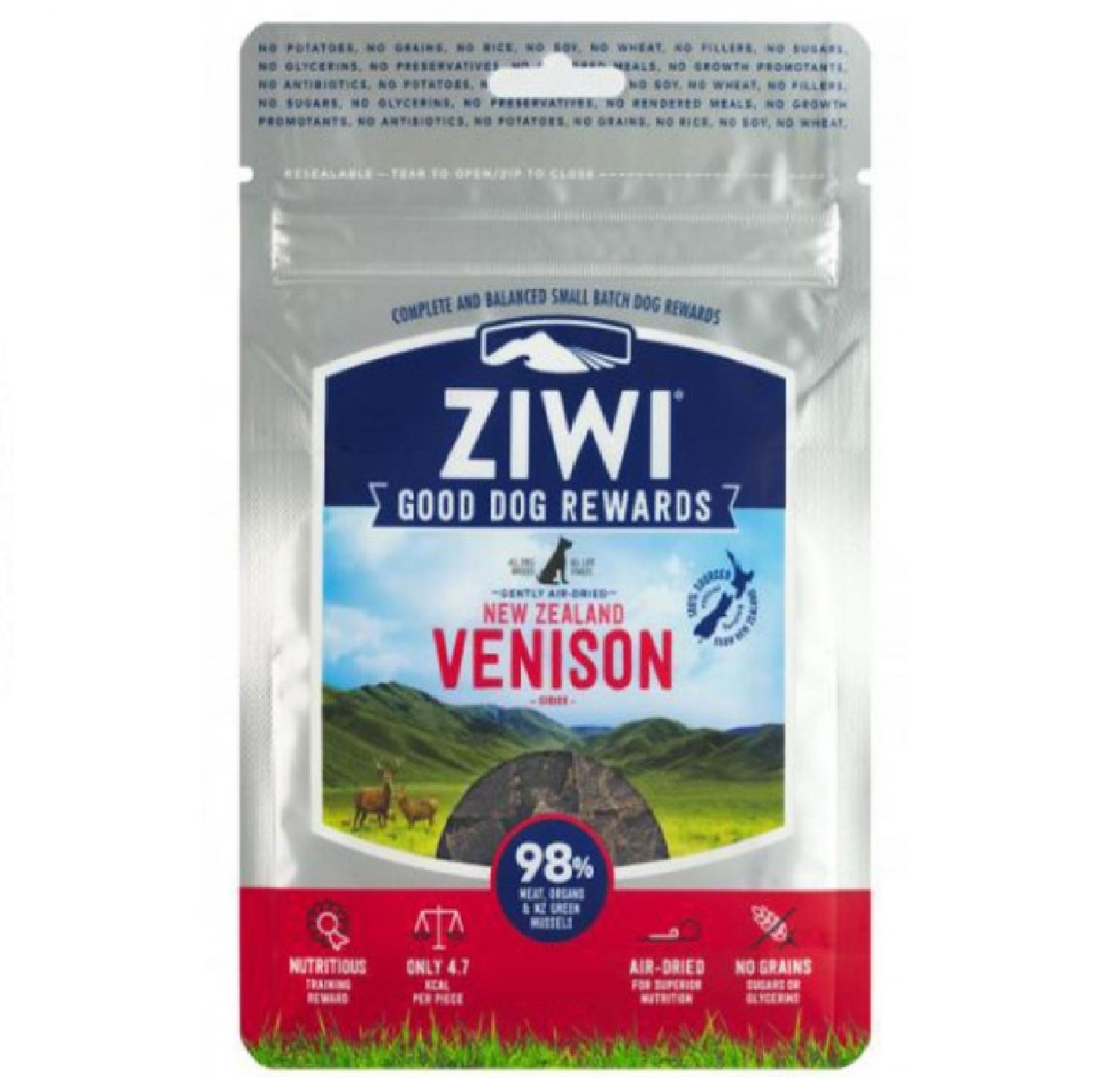 Ziwi Peak Dog Treats Venison KORT DATUM