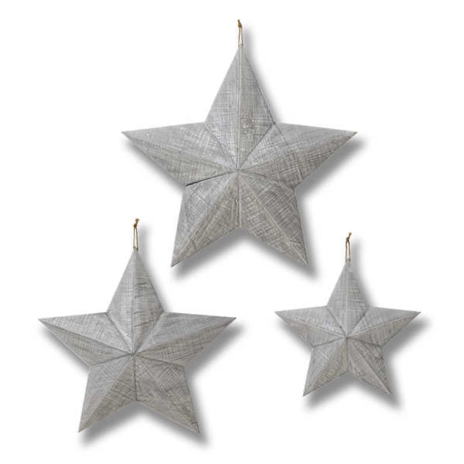 Grey medium wooden star