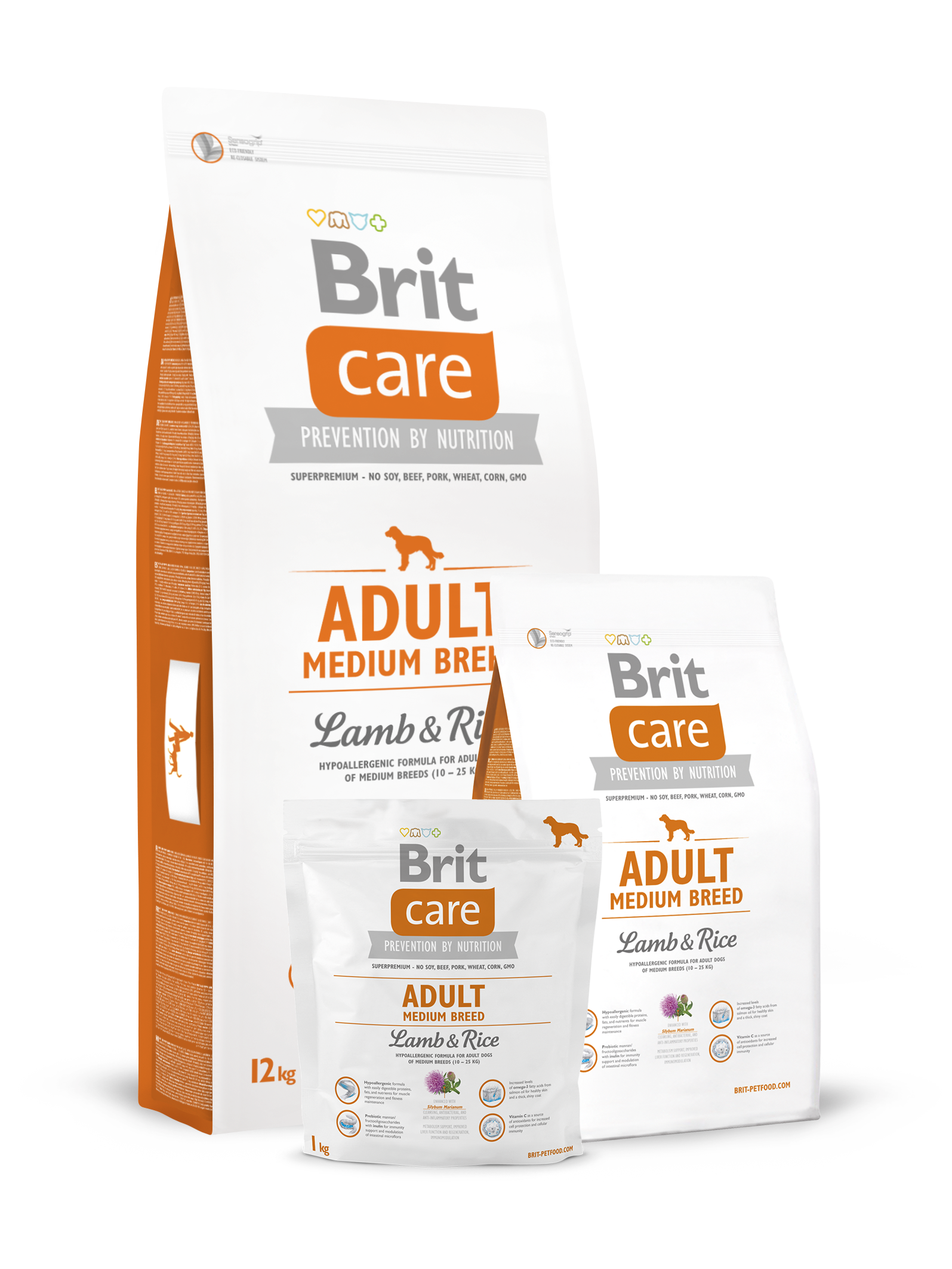 Brit Care Adult Medium Breed Lamb & Rice 3 kg.