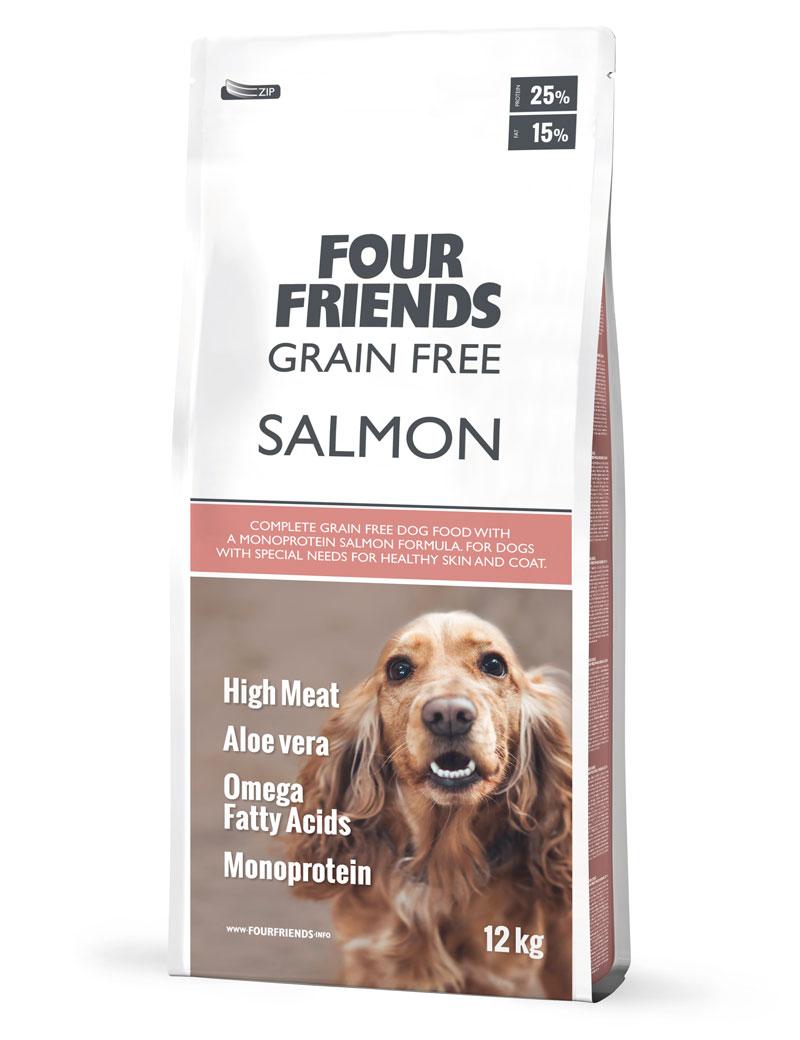 FOUR FRIENDS Grain Free Salmon 12 kg.