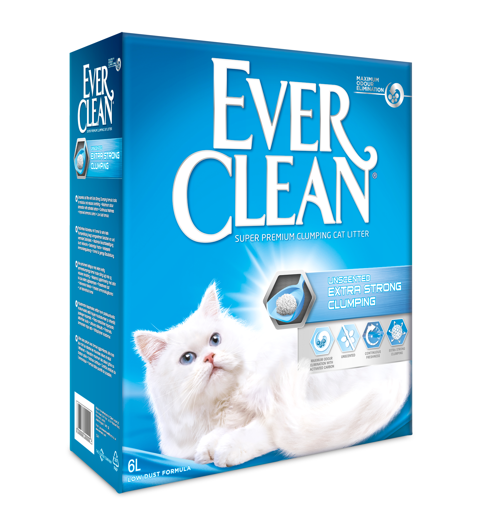 EVER CLEAN Unscented X-tra Clumping 6L