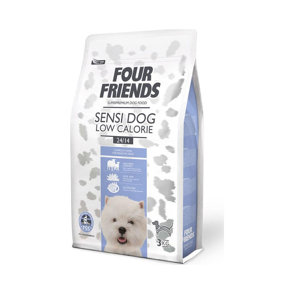 FOUR FRIENDS Sensi Dog Low Calorie Lamb & Rice 3 kg.