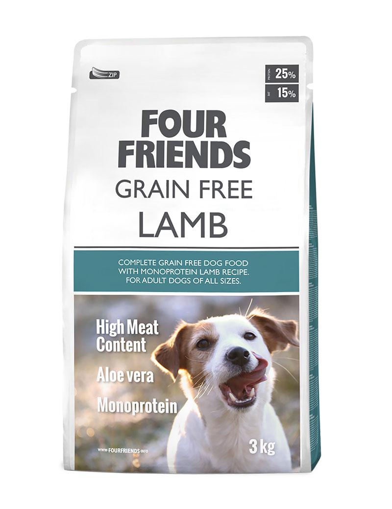 FOUR FRIENDS Grain free Lamb 3 kg.
