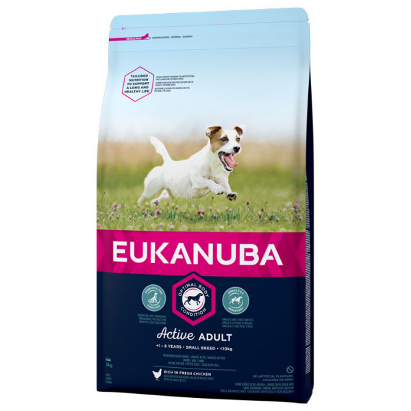 Eukanuba Active Adult Small Breed 15 kg.