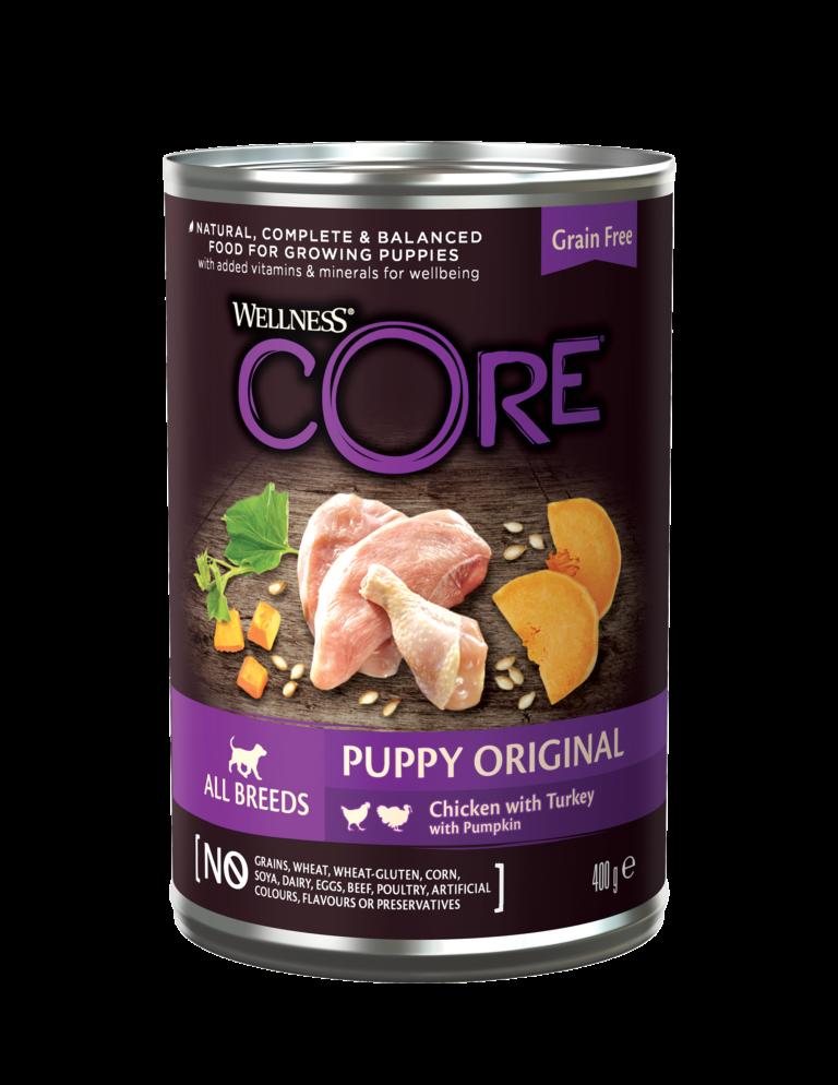 CORE Original Puppy Small/Medium Breed Chicken/Turkey konserv 400 gr.