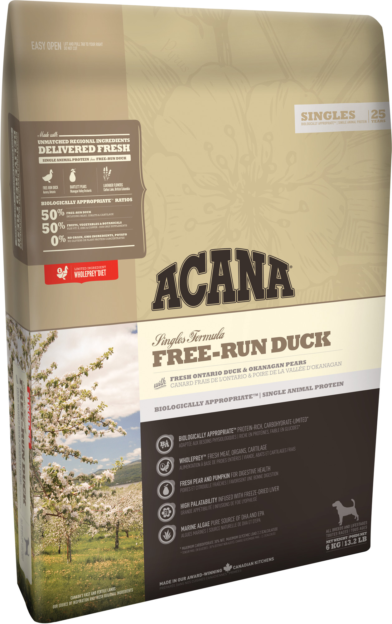 ACANA Free-Run Duck 11,4 kg.