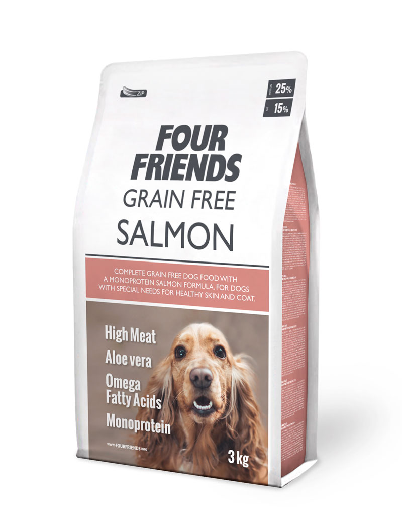 FOUR FRIENDS Grain Free Salmon 3 kg.