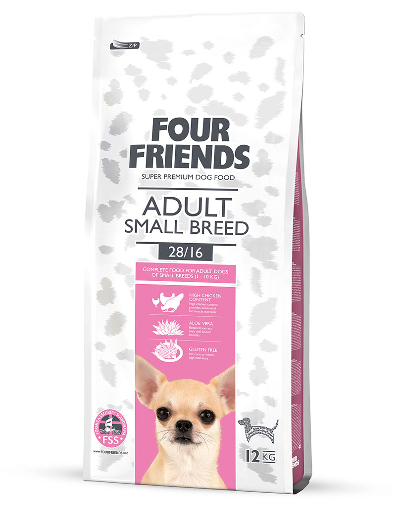 FOUR FRIENDS Adult Small Breed 12 kg.
