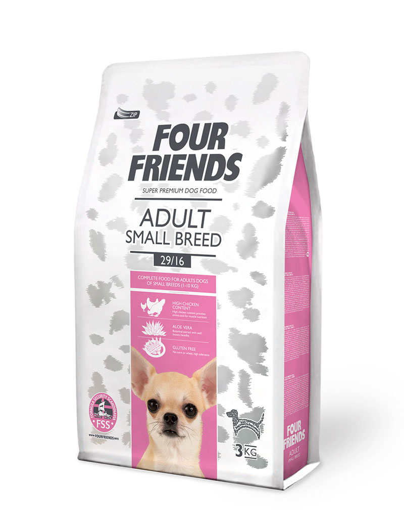 FOUR FRIENDS Adult Small Breed 3 kg.