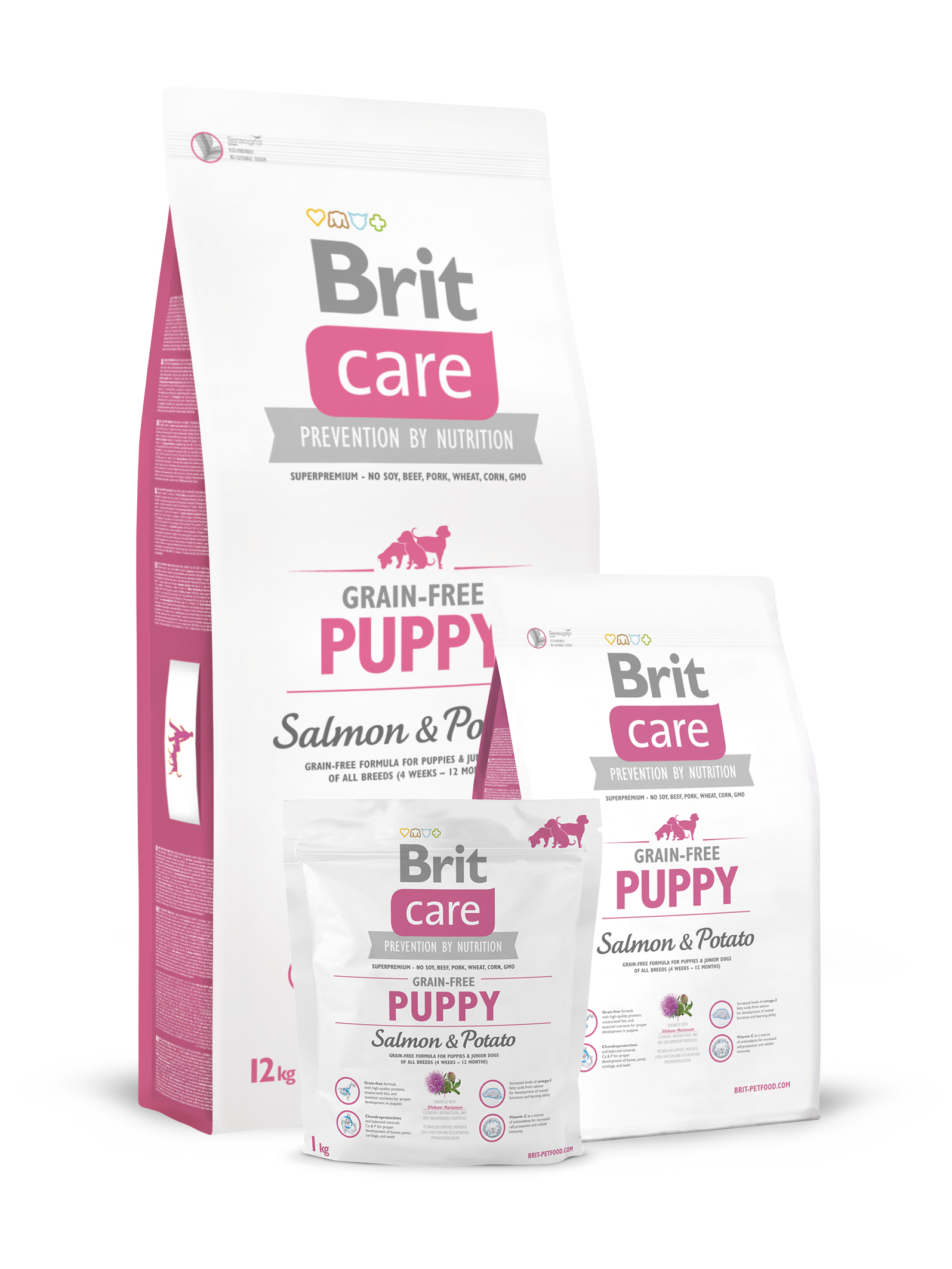 Brit Care Grain-free Puppy Salmon & Potato 12 kg.