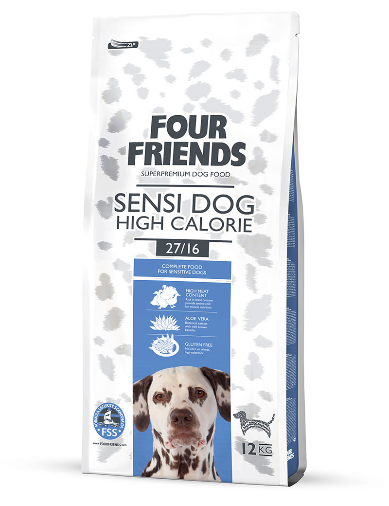 FOUR FRIENDS Sensi Dog High Calorie Anka & Kalkon 12 kg.