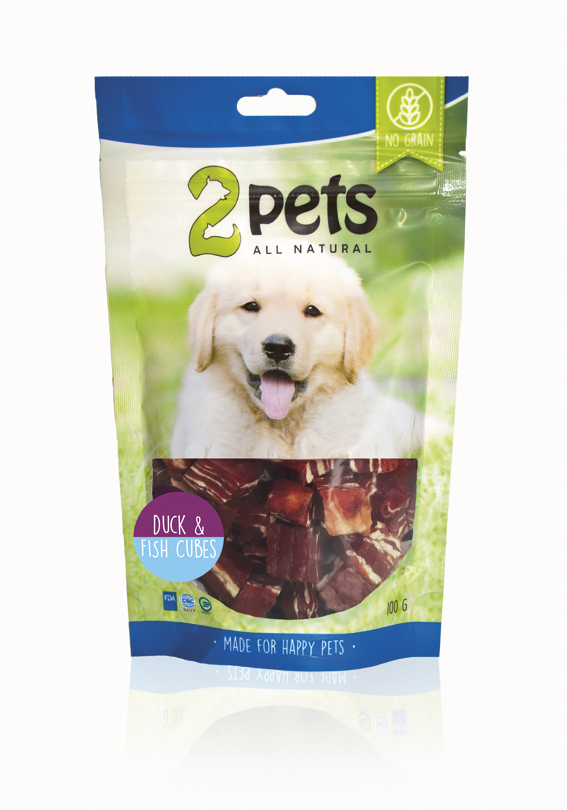 2pets Duck & Fish Cubes 100 gr.