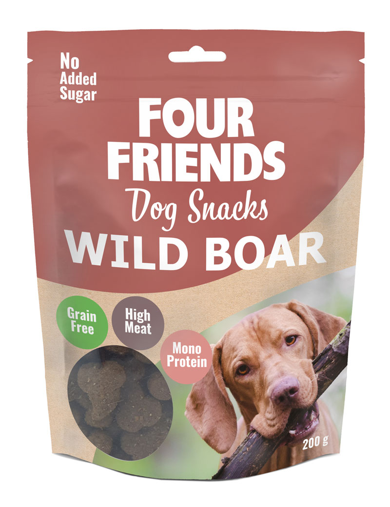 FOUR FRIENDS Dog Snack WildBoar 200 gr.
