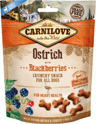 CARNILOVE Crunchy Ostrich with Blackberries 200 gr.