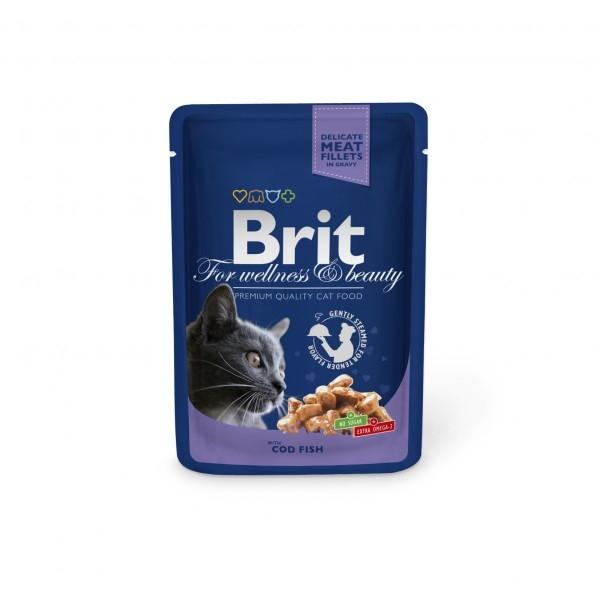 Brit Premium Portionspåsar Med Torsk 24 x 100 gr.
