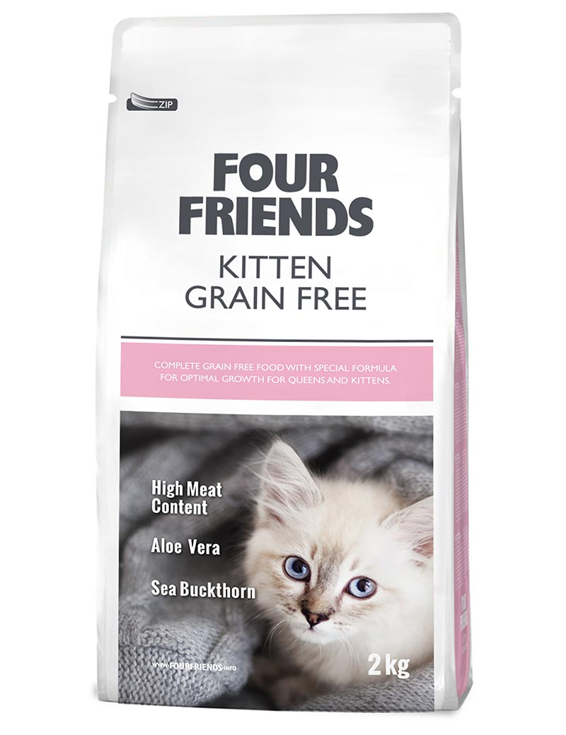 FOUR FRIENDS Grain-free Kitten 2 kg.