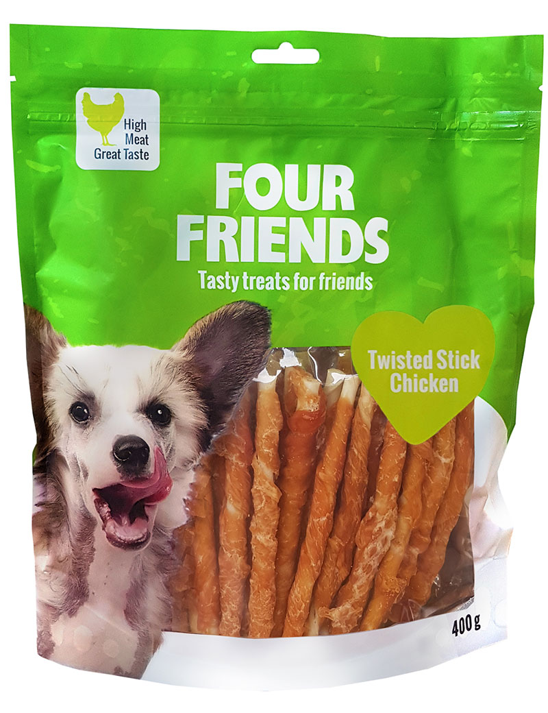FOUR FRIENDS Twisted Stick Chicken 12,5 cm 40-pack