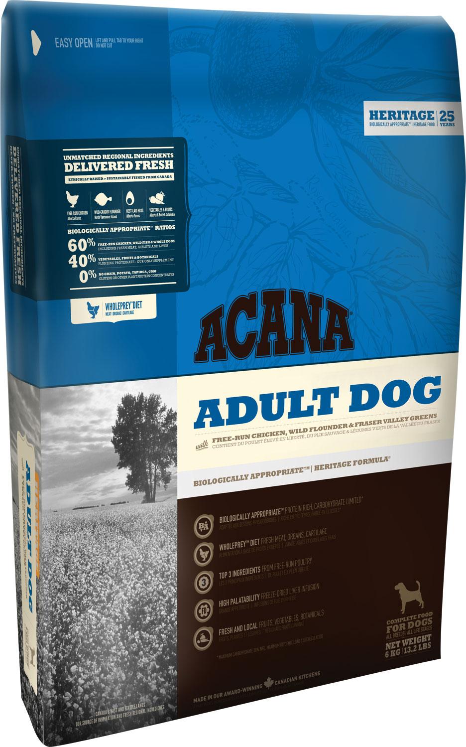 ACANA Adult Dog 17 kg.