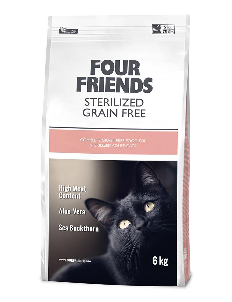 FOUR FRIENDS Grain-free Sterilized Cat 6 kg.