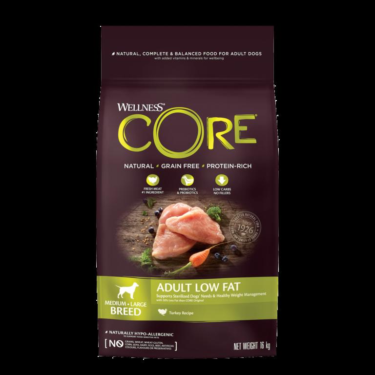 CORE Adult Low Fat Medium/Large Breed Turkey 16 kg.