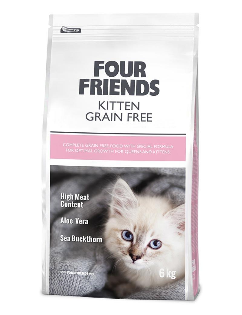 FOUR FRIENDS Grain-free Kitten 6 kg.