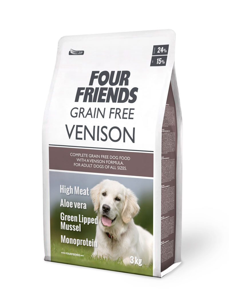 FOUR FRIENDS Grain Free Venison 3 kg.