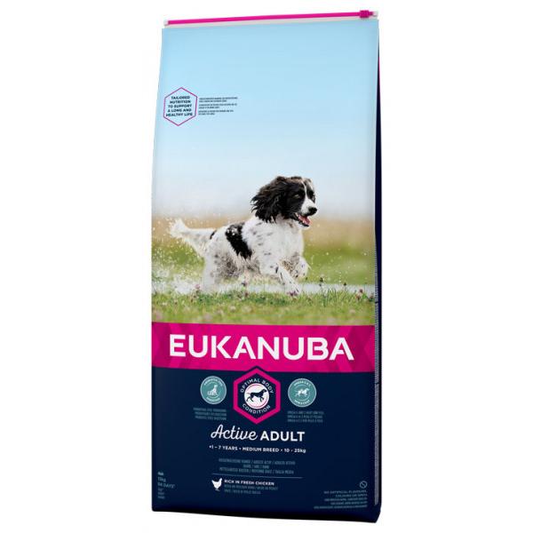 Eukanuba Active Adult Medium Breed 15 kg.