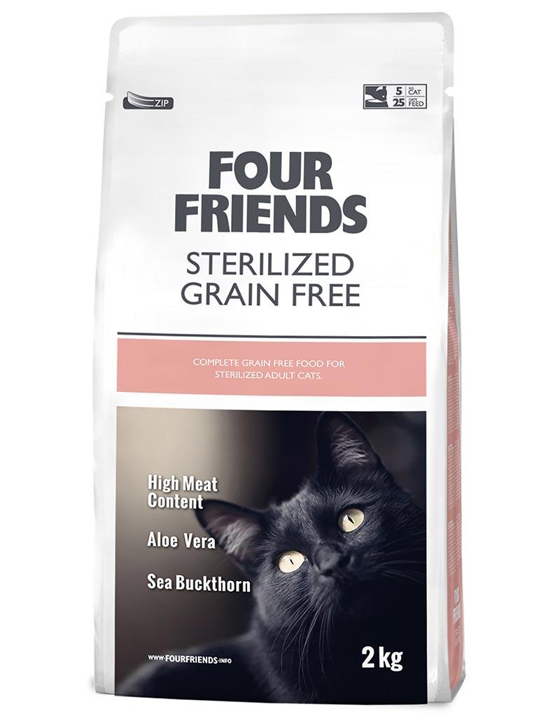 FOUR FRIENDS Grain-free Sterilized Cat 2 kg.