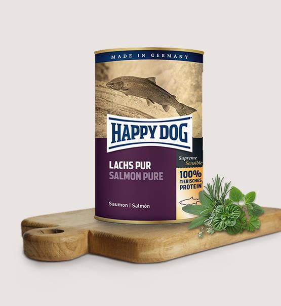 HAPPY DOG konserv 100% animaliskt Lax 400gr