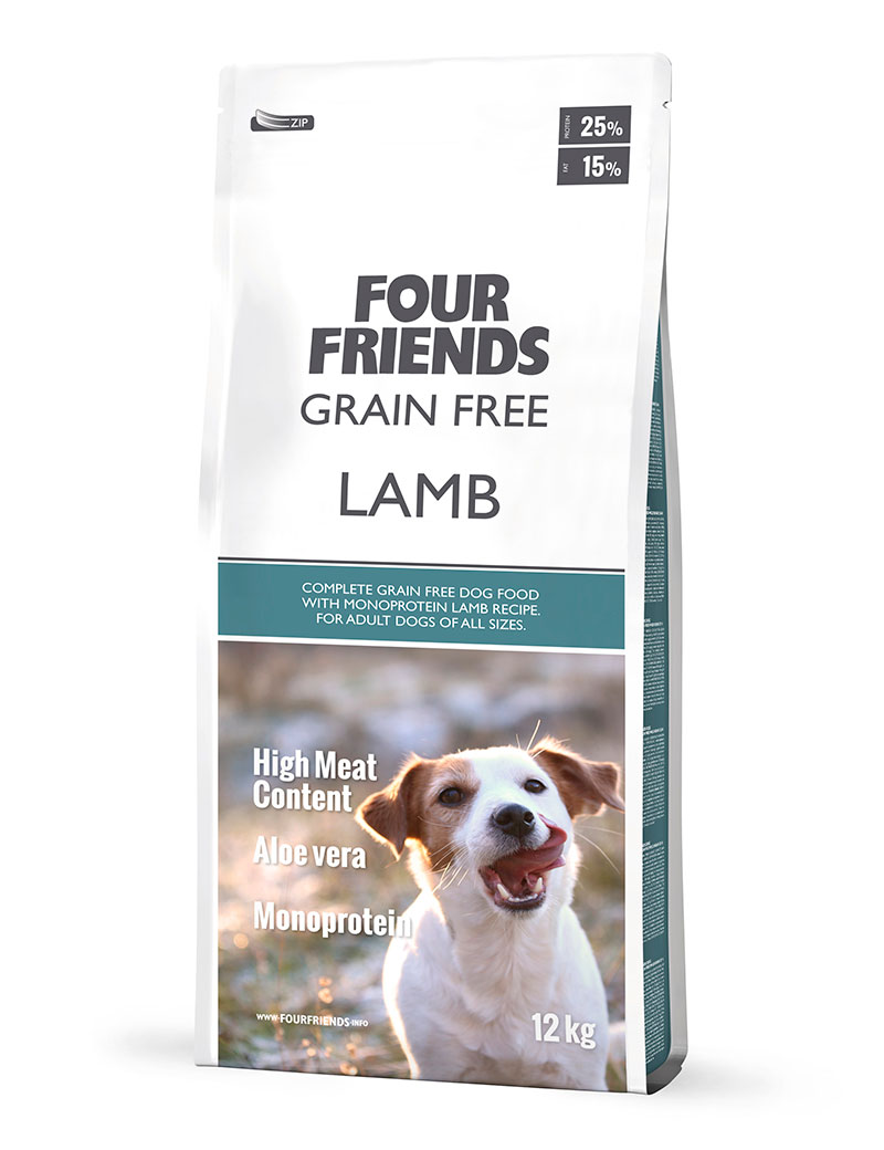 FOUR FRIENDS Grain Free Lamb 12 kg.
