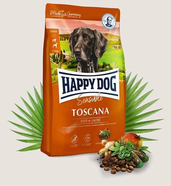 HAPPY DOG Supreme Sensible Toscana 4kg.