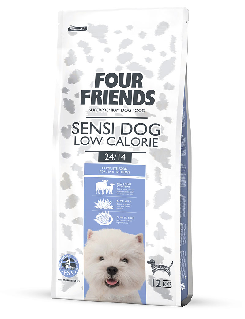 FOUR FRIENDS Sensi Dog Low Calorie Lamb & Rice 12 kg.