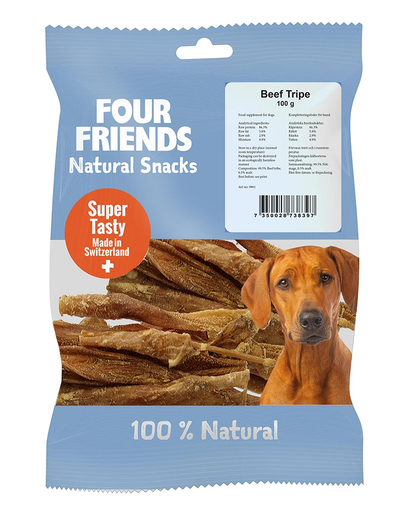 FOUR FRIENDS Natural Snacks Beef Tripe 800 gr.