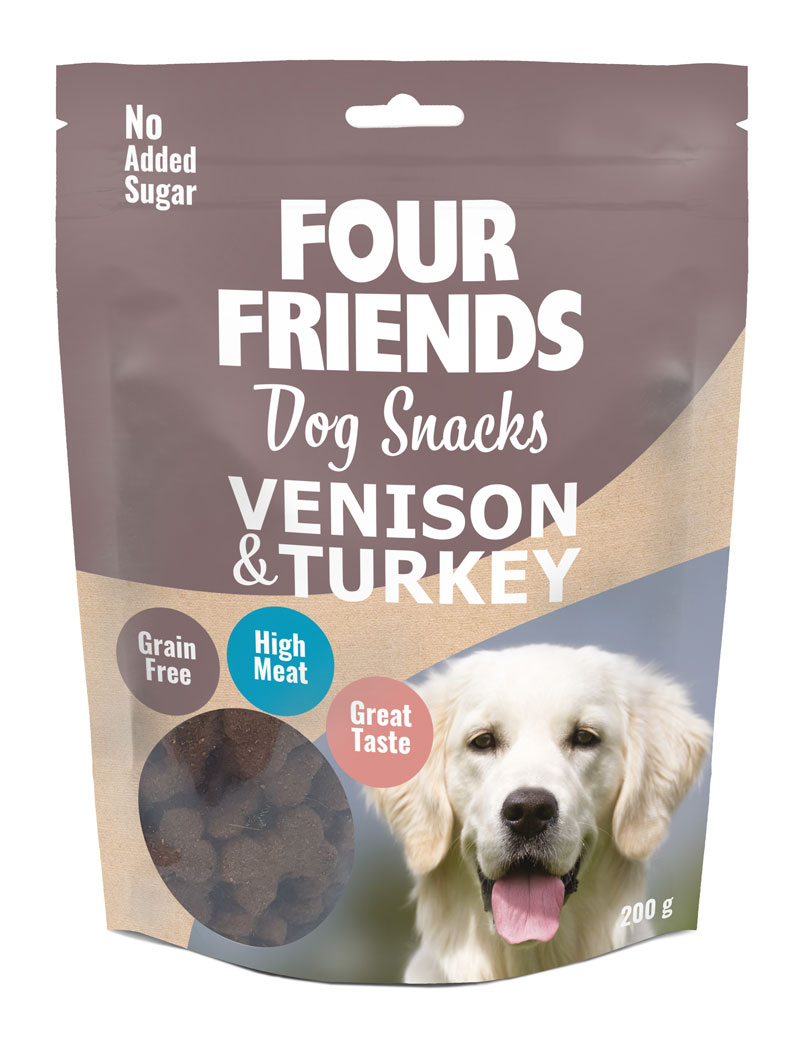 FOUR FRIENDS Dog Snack Venison & Turkey 200 gr.