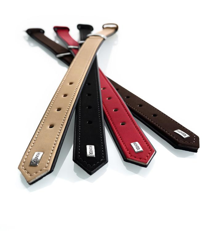 Kampanjvara! HUNTER Halsband Konstläder Svart 60cm.