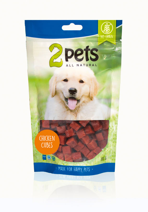2pets Chicken Cubes 100g