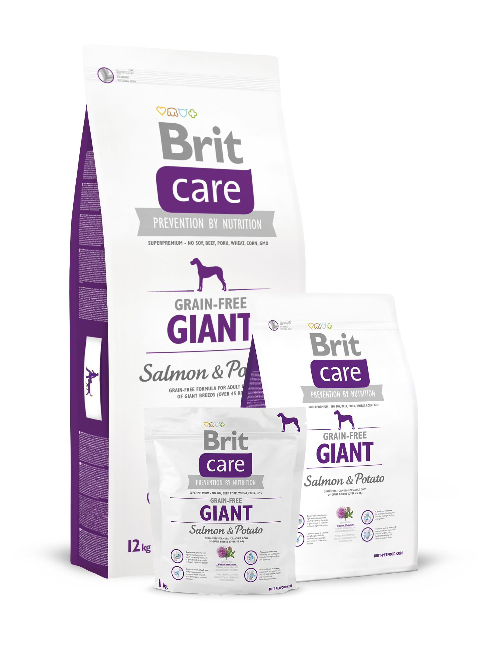 Brit Care Grain-free Senior & Light Salmon & Potato 12 kg.