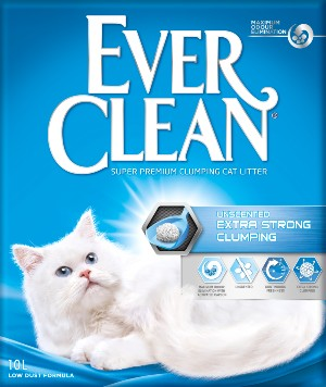 EVER CLEAN Unscented X-tra Clumping 10L