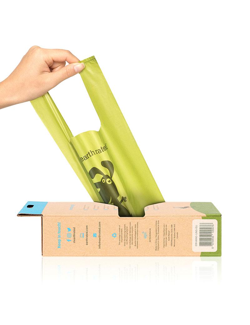 Earth Rated Eco-friendly bajspåse med handtag 120pack