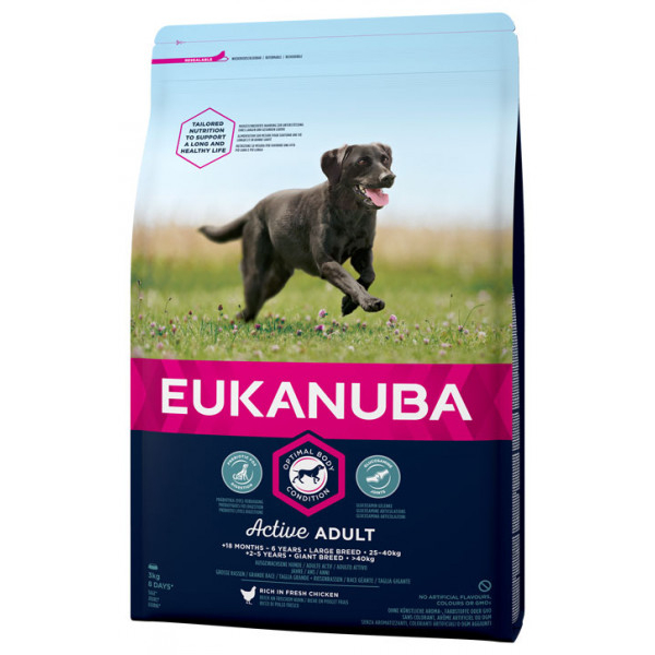Eukanuba Active Adult Large Breed 15 kg.