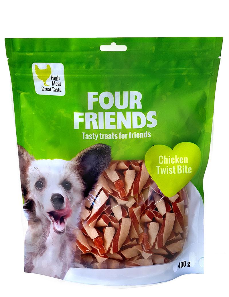 FOUR FRIENDS Chicken Twist Bite 400 gr.
