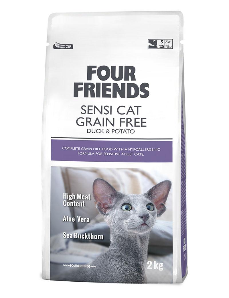 FOUR FRIENDS Grain-free Sensi Cat 2 kg.