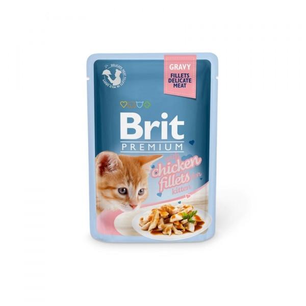 Brit Premium Kitten Pouches Fillets in Gravy with Chicken 24 x 85 gr.